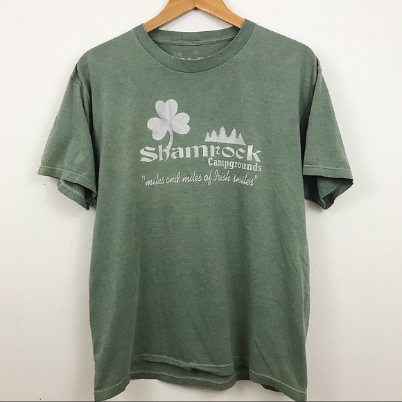 277fb2351a3 Vintage Shirts | Mr Chips Shamrock Campground Novelty Graphic Tee ...